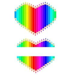Pencils heart vector