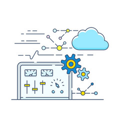 personal cloud control panel vector image