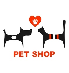 Pet shop symbol with pets vector