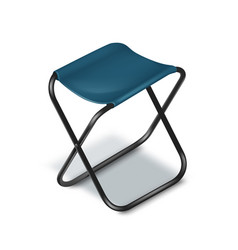 Picnic folding chair vector