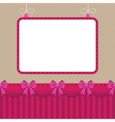 pink star frame vector image