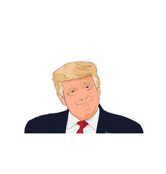 portrait president usa donald trump vector image