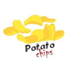 Potato chips sticker vector