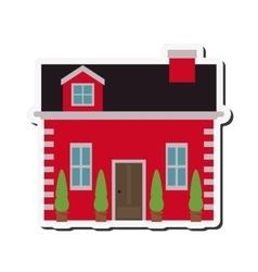 Pretty house icon vector