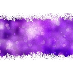 Purple background with snowflakes EPS 8 vector