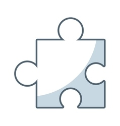 puzzle piece game line icon vector image
