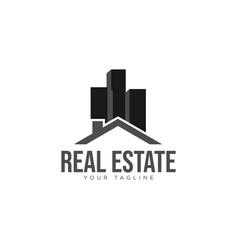 real estate building property logo design vector image