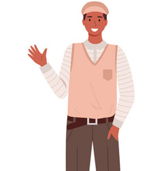 representative france in national clothes vector image