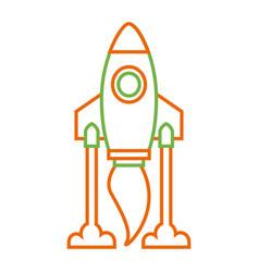 Rocket launch start innovation icon vector