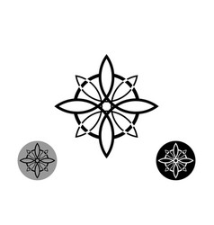 sacred flower celtic like style linear star icon vector image