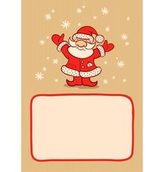 Santa and snow vector