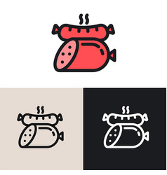 sausages graphic logo vector image