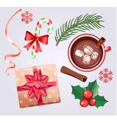 set for christmas holidays vector image