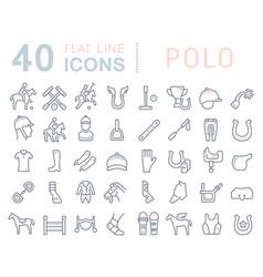 set line icons polo vector image