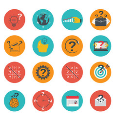 set of business icons flat marketing e-commerce vector image