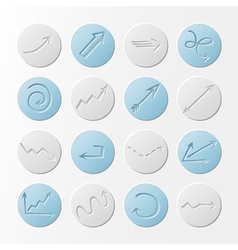 Set of round paper icons vector image