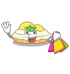Shopping cartoon lemon cake with lemon slice vector