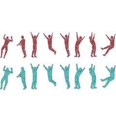 Silhouette Exercising b vector image