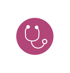 stethoscope breast cancer awareness icon vector image