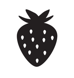 strawberry icon on white background flat style vector image