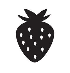 strawberry icon on white background flat style vector image