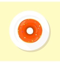 Sweet Donuts Set Design Flat Food vector