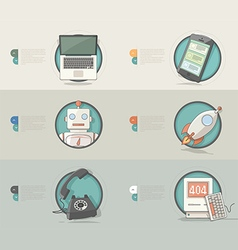 Technology Concept icons for business company vector