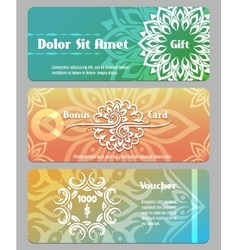 Thai calligraphic design gift card bonus card and vector image