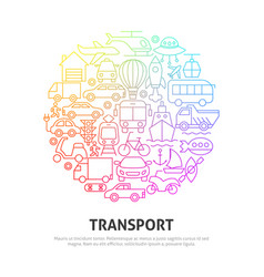 transport circle concept vector image
