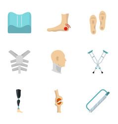 traumatology and orthopedic icon set flat style vector image