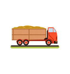 truck full of barley grain design element for vector image