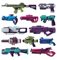 Weapon spacegun blaster laser gun with vector