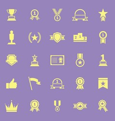 winner color icons on violet background vector image