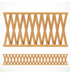 Wooden fence from crossed vector image