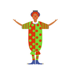 cute clown for the holiday vector image