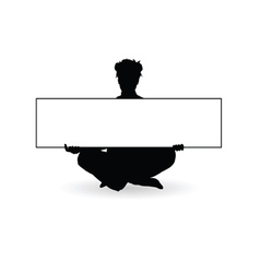 girl beauty with board art silhouette vector image vector image