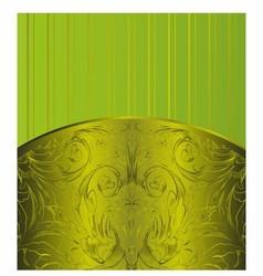 Green Vintage Background Antique Greeting Card vector image