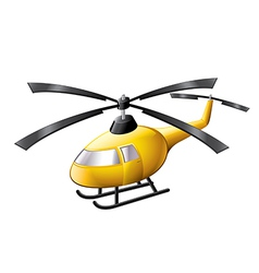 helicopter isolated vector image