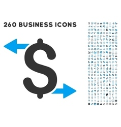 Payouts Icon with Flat Set vector image vector image