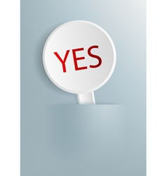 plate with the word yes vector image