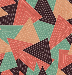retro scattered triangle seamless pattern with vector image vector image