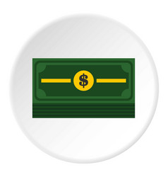 stack of dollars icon circle vector image