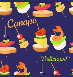 canape set designer seamless print pattern vector image vector image