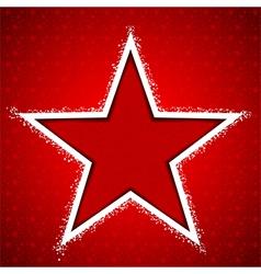 Christmas Star Snowflake Greeting Card vector image vector image