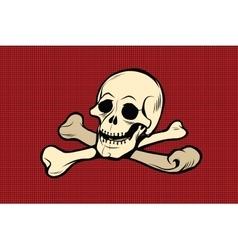 Jolly Roger The skull and crossbones vector image