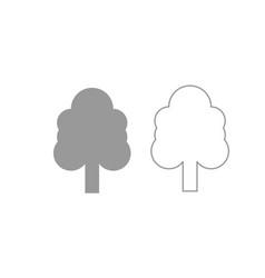 tree icon grey set vector image vector image