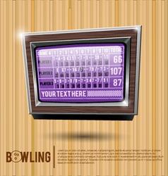 Bowling alley scoreboard vector image