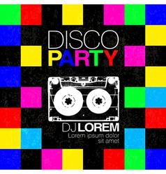 Disco poster or flyer design vintage template on vector image vector image