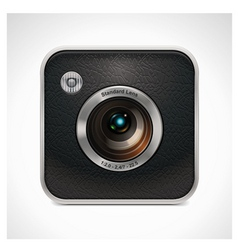 square retro camera icon vector image vector image