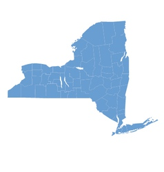 State map of new york by counties vector